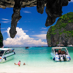 Full Day Phi Phi Island Tour by Speed Boat
